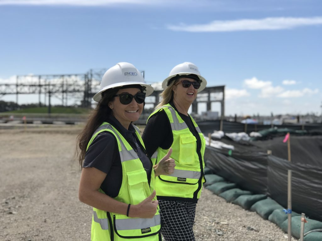 Melissa Glickman and Joann Lynch at Brooklyn Basin Redevelopment in Oakland, California